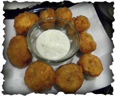 Fried Mushrooms. So easy and really good. I made ranch to go with it. Yumm!