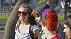 Jovenes chilenos en Santiago de Chile