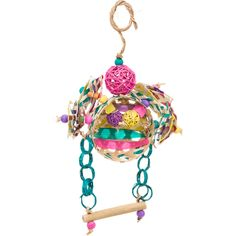Fetch-It Pets Polly Wanna Razzle Dazzle Bird Toy