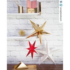 """Have you seen my new paper lanterns just in time for decking the halls with pretty stuff! I just spotted this post by @scrapbookcom and had to share! These are beautiful and the perfect touch, especially for the holidays!! Thanks for posting Scrapbook.com ‼️ #heidiswapp #makeprettyholidaystuff #deckthehalls #starlanterns #timeless #easyupanddown they are avail in lots of colors and styles!"" Photo taken by @heidiswapp on Instagram, pinned via the InstaPin iOS App! http://www.instapinap"