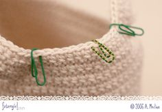 Paper Clip Stitch Markers - tutorial on how to make them is on the site