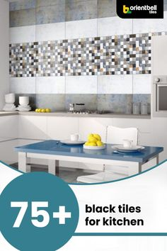 Are you a fan of black or dark decor? But tired of looking at the same trending options that come up on your google search? Well, here are over 75 black kitchen tile ideas for your space that are diverse and unique. #tiledesigns #kitchendecor #blacktiles #kitchen #kitchenwall #kitchenredesign