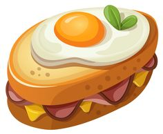 Sandwich with Egg PNG Clipart Vector Picture