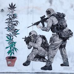 "Street art | Mural ""WarOnDrugs"" by ABCNT"
