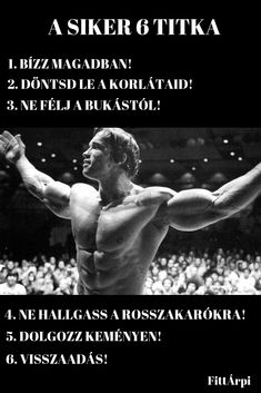 A siker 6 titka - Motiváció edzéshez Daily Motivation, Fitness Motivation, Bruce Lee Quotes, Motivational Quotes, Inspirational Quotes, Life Learning, Gym Quote, Work Quotes, Fitness Quotes