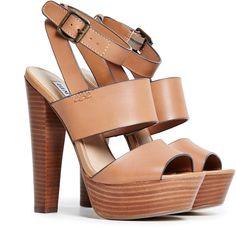 Steve Madden Dezzzy Platform Sandals in cognac 6 - 10