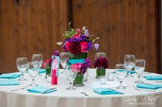vibrant table top at Franciscan Gardens