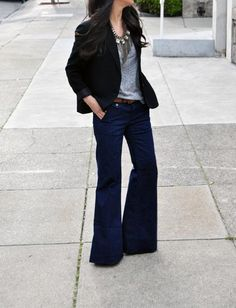 Wide Leg Jeans via member http://inthecitywithcrystalin.com/blog1/page/2/