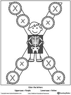 Recognize Uppercase and Lowercase Letter X: Teach your preschooler to recognize uppercase and lowercase letters. Learn the alphabet in a fun way by practice identifying the uppercase and lowercase letter X with this printable activity worksheet. Pre K Worksheets, Letter Worksheets, Letter Activities, Preschool Letters, Preschool Printables, Preschool Worksheets, Preschool Literacy, Therapy Activities, Educational Activities