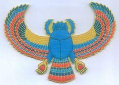 Ancient Egypt Egyptian Scarab God Symbol Deity Occult Secret Sign Patch Applique - $25