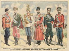 """""""Les différents uniformes militaires de l'Empereur de Russie"""""""