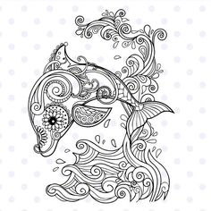 Mandala Printable Coloring Pages. 20 Mandala Printable Coloring Pages. Coloring Pages Mandala From Free Coloring Books for Adults Dolphin Coloring Pages, Mandala Coloring Pages, Coloring Pages To Print, Animal Coloring Pages, Coloring Book Pages, Coloring For Kids, Printable Coloring Pages, Coloring Sheets, Christmas Coloring Pages