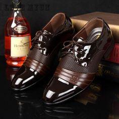 Men Office Business Patent Dress Oxfords Shoes Luxury Brand Pointed Toe Leather Shoes For Male Comfortable Loafers 38-47