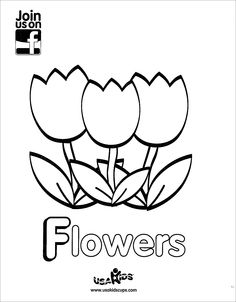 April showers bring May flowers! Enjoy USA Kids' tulip patch coloring sheet.
