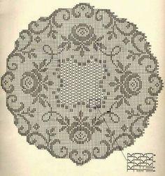 Kira crochet: Crocheted motif no. 347