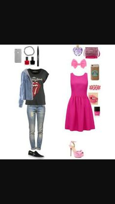 Which one.  I'm more tomboy. I hate pink and freaking stereotypes saying girls should wear punk and guys blue.