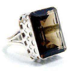 Seductive Sterling Silver Smoky Topaz Ring, Size 7.5  Price : $41.50 http://www.silverplazajewelry.com/Seductive-Sterling-Silver-Smoky-Topaz/dp/B00E62SLJU