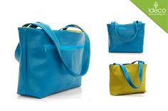 Doble es un diseño innovador que permite tener dos carteras en una, es impermeable y cada combinación de color es exclusiva. Esta compuesto por: - Un bolsillo con cremallera en ambas carteras.  http://idecocolombia.com/contenido/producto/doble-cian-verde/