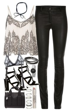 Outfit for clubbing by ferned on Polyvore featuring polyvore fashion style Miss Selfridge ElleSD Anine Bing Dune Forever 21 Banana Republic H&M Skagen Topshop clothing