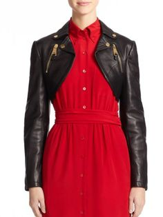 red valentino moto jacket