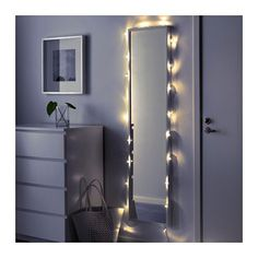 SÄRDAL LED ljusslinga med 24 ljus, transparent, inomhus - transparent/inomhus
