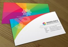 Business card, color