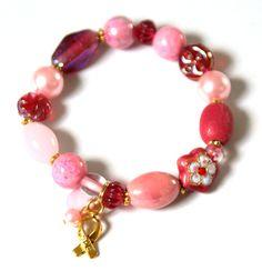 Sweet Pink geluksarmband voor Pink Ribbon € 22,95 -> Jewellicious Designs doneert € 3,63 aan Pink Ribbon