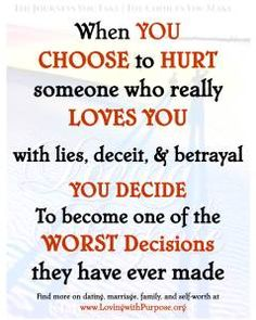 Lies, deceit and betrayal kills the heart just a little bit more every single time.until there is nothing left BUT the lies, deceit and betrayal, so make sure you like the taste of your bullshit, bc itll be all you have left one day! Lessons Learned, Life Lessons, Lol So True, Mantra, Lead Me On, Encouragement, Really Love You, You Lied, True Quotes