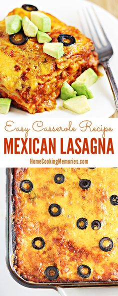 This Easy Mexican Lasagna recipe is one of our family favorites! Taco seasoned meat is combined with spaghetti sauce and green chiles, then layered with lasagna noodles and plenty of cheese. This recipe was hard to find -- was originally clipped from a box of lasagna noodles.