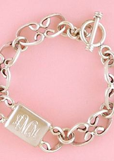 engraved - doesn't have to look like this but maybe just something sterling silver and monogrammed? #southern