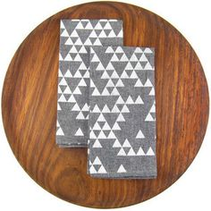 Triangle Chambray Napkin Set