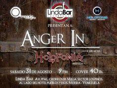 Cresta Metálica Producciones » ANGER IN este 31 de agosto en Linda Bar Rock House de Mérida!!