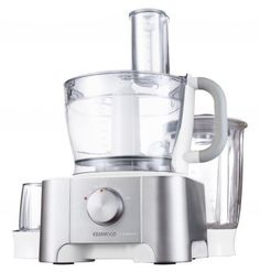 This stylish, brushed metal, family-sized food processor has a patented space-saving design to make it the perfect fit for your kitchen. The Multipro comes with Kenwood Food Processor, Food Processor Recipes, Brushed Metal, Kitchen Appliances, How To Make, Design, Diy Kitchen Appliances, Home Appliances