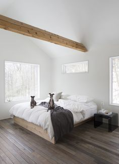 Gorgeous wood floors and minimal decor