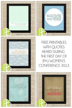 Free Printables from BYU Womens Conference 2013 | Mormon Mommy Blogs