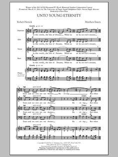 : Unto Young Eternity - Partition Chorale SATB - Plus de 70.000 partitions à imprimer !