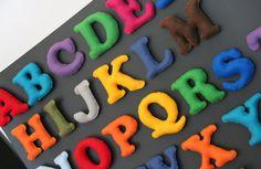 DIY Felt Alphabet Magnets