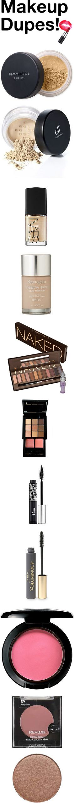 """Makeup Dupes"" by lauren-claire on Polyvore"