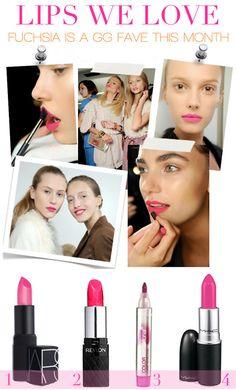 hot PINK lips!