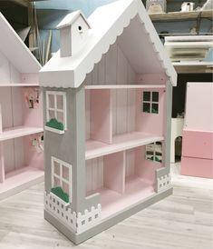 Купить Кукольный домик-стеллаж двухцветный - белый, кукольный дом, кукольный домик, кукольная мебель