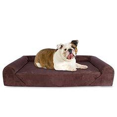 KOPEKS Deluxe Orthopedic Memory Foam Sofa Lounge Dog Bed  Large  Brown by KOPEKS * See this great product.