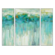 """This Beach Lights - Set of 3 from Z Gallerie comes in a non-glare matte finish...I am going to use two panels in the dining room and one over the bed in our """"Get The Look For Less"""" Case Study #3 beach cottage. Priced at $259. a great buy..go to designinternationalstaging.com to view the entire project..click on my Design Advice Blog then go to Case Study #3....Linda"""