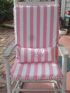Custom Rocking Chair Cushions.