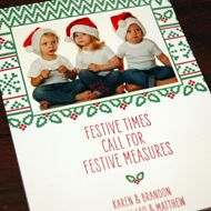 Festive Measures photo card from Designers Fine Press.  Customize yours with Paper Passionista.