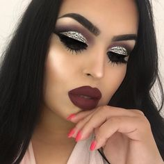 Hey guys! Sorry I've been MIA, I'm currently sick with the flu  As soon as I'm better I will create some awesome looks! For now, here is a throwback to this glam I did  @anastasiabeverlyhills Dipbrow in Dark Brown, Noir eyeshadow  @kyliecosmetics @kyliejenner Black Kyliner @hudabeauty @shophudabeauty lashes in Farah @hourglasscosmetics Vanish Foundation in Linen  @jeffreestar @jeffreestarcosmetics Beauty Killer Palette @nyxcosmetics Lip Suede Cream in Vintage @benefitaustralia Hoola bro...