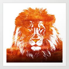 Red Lion  Art Print by Grace Williams - $19.00