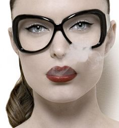 these glasses + makeup = love