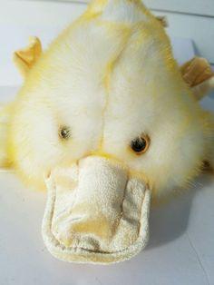 DanDee Yellow Easter Plush Stuffed Animal Large Fuzzy Soft Duckling Platypus  #DanDee