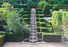 English Garden Pea gravel tiered water fountain at The Albemarle Estate at Trump Winery Luxury Travel
