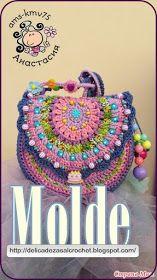Delicadezas en crochet Gabriela: Bandolera bien colorida